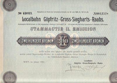 Göpfritz - Gr. Siegharts Aktie