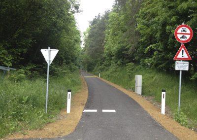 Radweg beim Lagerhaus Raabs/Thaya