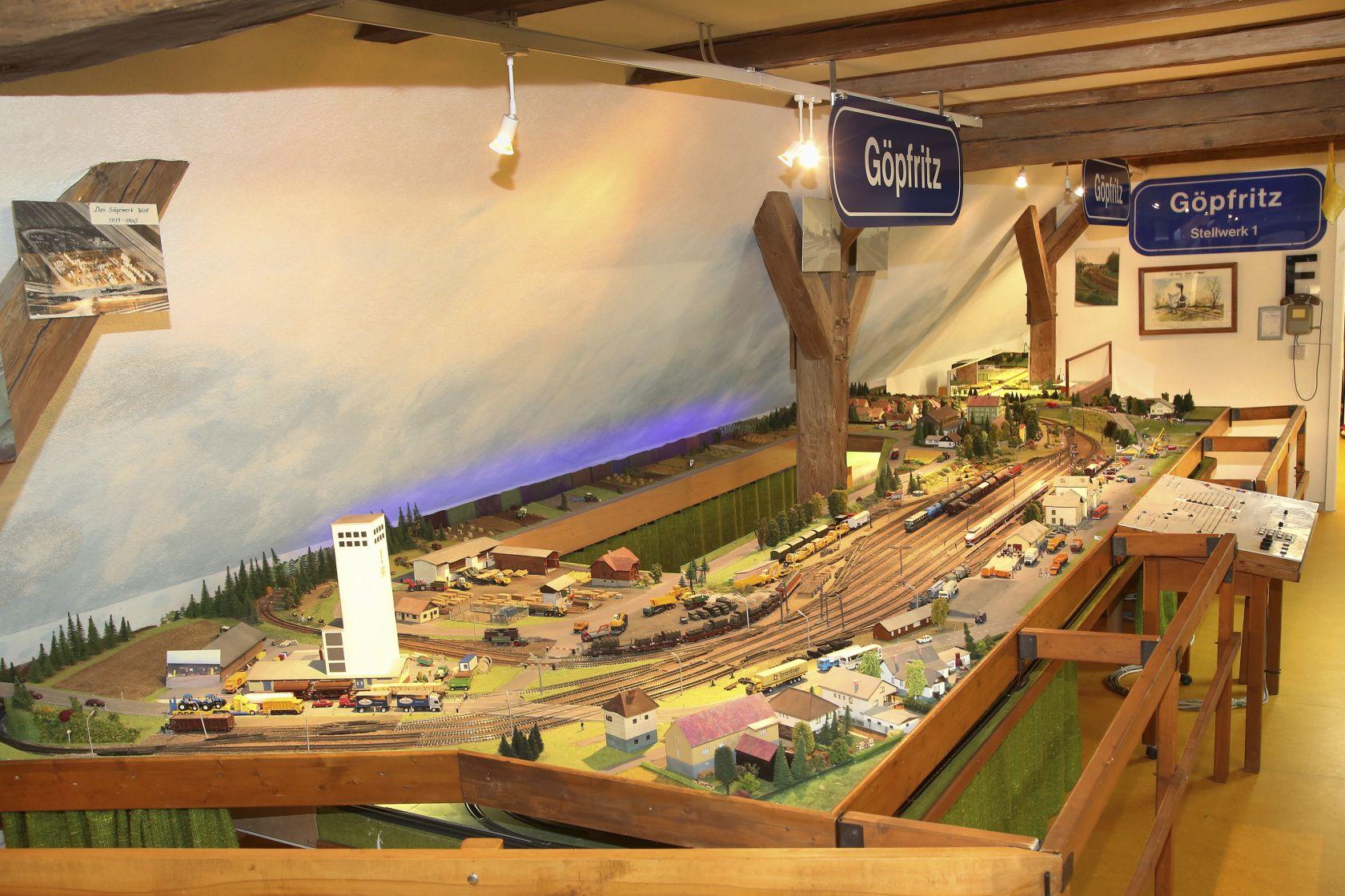Thayarunde-Modellbahnhof Göpfritz